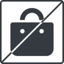 shopping-bag-solid thin, line, square, horizontal, mirror, prohibited, shopping, cart, market, handbag, bag, bags, shopping-bag, shopping-bag-solid free icon 128x128 128x128px