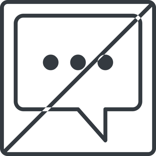 comment-square-dots-thin thin, line, square, horizontal, mirror, dots, message, prohibited, chat, comment, speech, dialogue, blablabla, blabla, bubbles, comment-square-dots-thin free icon 512x512 512x512px