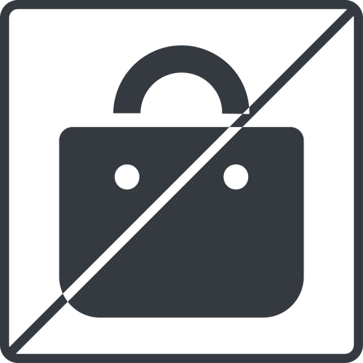 shopping-bag-solid thin, line, square, horizontal, mirror, prohibited, shopping, cart, market, handbag, bag, bags, shopping-bag, shopping-bag-solid free icon 512x512 512x512px