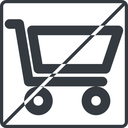 shopping-cart-wide thin, line, square, horizontal, mirror, prohibited, shopping, cart, shop, buy, trolley, shopping-cart-wide free icon 512x512 512x512px