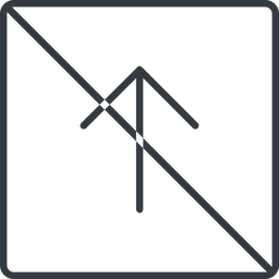 arrow-simple-thin thin, line, up, square, arrow, direction, prohibited, arrow-simple-thin free icon 256x256 256x256px