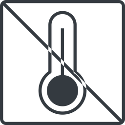 temperature-high-thin thin, line, square, prohibited, temperature, thermometer, heat, high, temperature-high-thin, temperature-high, hot free icon 256x256 256x256px