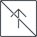 arrow-simple-thin thin, line, up, square, arrow, direction, prohibited, arrow-simple-thin free icon 128x128 128x128px