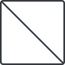 square thin, line, square, prohibited free icon 128x128 128x128px