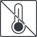 temperature-high-thin thin, line, square, prohibited, temperature, thermometer, heat, high, temperature-high-thin, temperature-high, hot free icon 128x128 128x128px
