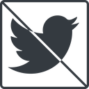 twitter thin, line, up, square, logo, brand, social, prohibited, twitter, bird, twit free icon 128x128 128x128px