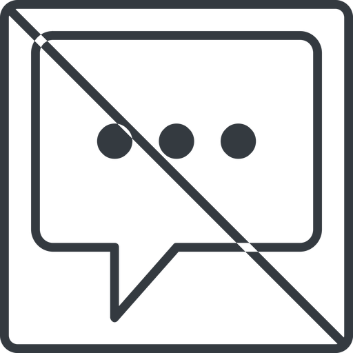comment-square-dots-thin thin, line, square, dots, message, prohibited, chat, comment, speech, dialogue, blablabla, blabla, bubbles, comment-square-dots-thin free icon 512x512 512x512px