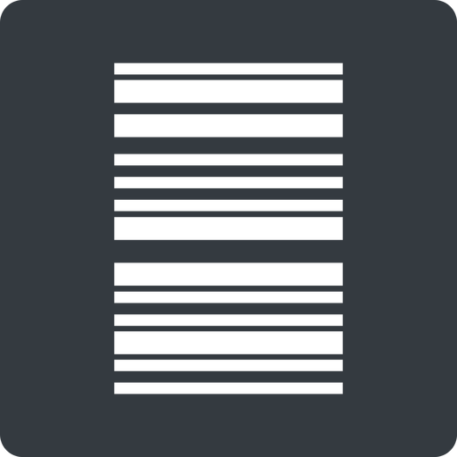 barcode-thin thin, left, solid, square, barcode, barcode-thin free icon 512x512 512x512px