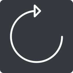 undo-thin thin, up, solid, square, horizontal, mirror, arrow, reload, refresh, undo, redo, undo-thin, restore free icon 256x256 256x256px