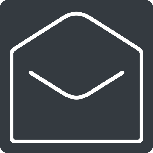 open-envelope-thin thin, solid, square, horizontal, mirror, envelope, mail, message, email, contact, open, read, open-envelope, open-envelope-thin free icon 512x512 512x512px
