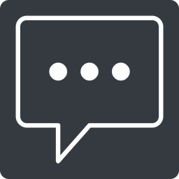 comment-square-dots-thin thin, solid, square, dots, message, chat, comment, speech, dialogue, blablabla, blabla, bubbles, comment-square-dots-thin free icon 256x256 256x256px