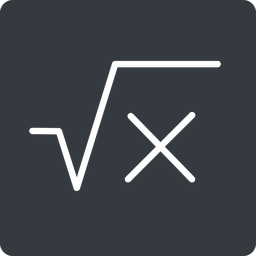 square-root-thin thin, solid, square, root, formula, equation, math, mathematics, square-root, square-root-thin free icon 256x256 256x256px