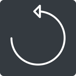 undo-thin thin, up, solid, square, arrow, reload, refresh, undo, redo, undo-thin, restore free icon 256x256 256x256px