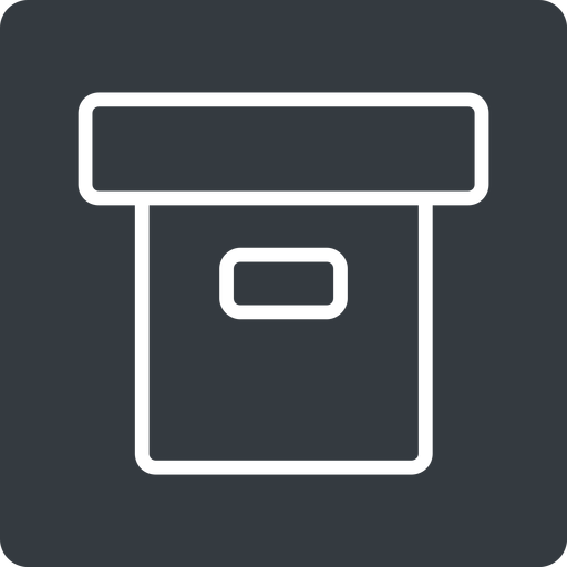 archive-thin thin, solid, square, archive, back-up, archive-thin free icon 512x512 512x512px