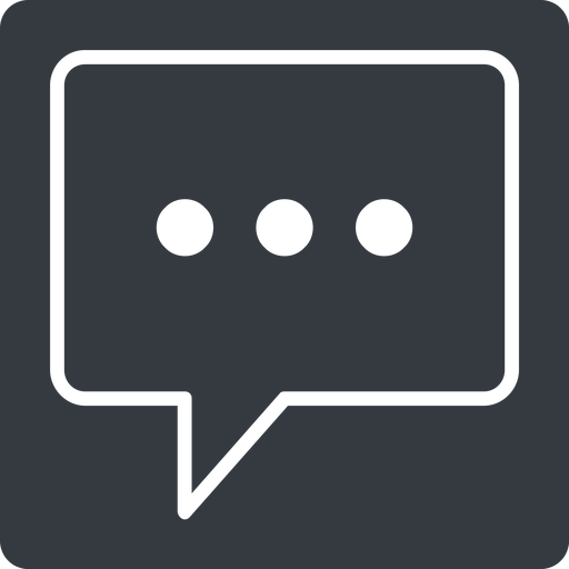 comment-square-dots-thin thin, solid, square, dots, message, chat, comment, speech, dialogue, blablabla, blabla, bubbles, comment-square-dots-thin free icon 512x512 512x512px