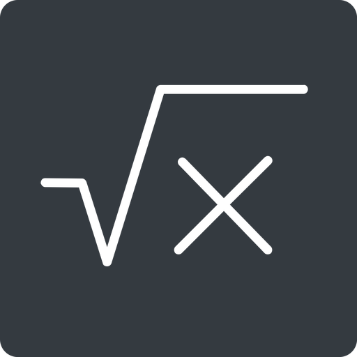 square-root-thin thin, solid, square, root, formula, equation, math, mathematics, square-root, square-root-thin free icon 512x512 512x512px