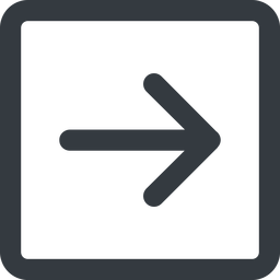 arrow-simple-wide line, right, square, arrow, direction, arrow-simple-wide free icon 256x256 256x256px