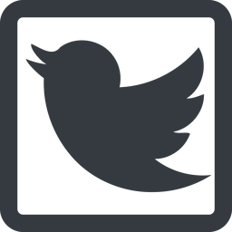 twitter line, up, wide, square, logo, brand, horizontal, mirror, social, twitter, bird, twit free icon 256x256 256x256px