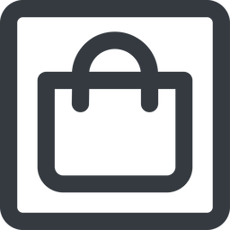 shopping-bag-wide line, wide, square, shopping, cart, market, handbag, bag, bags, shopping-bag, shopping-bag-wide free icon 256x256 256x256px