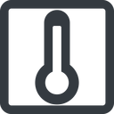temperature-high-solid line, wide, square, temperature, thermometer, heat, high, temperature-high-solid, temperature-high, hot free icon 128x128 128x128px
