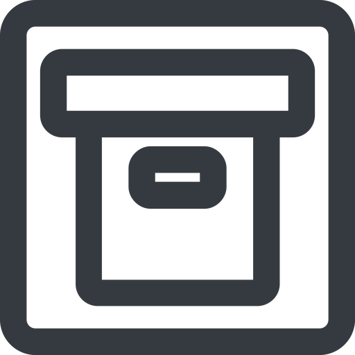 archive-wide line, wide, square, archive, back-up, archive-wide free icon 512x512 512x512px