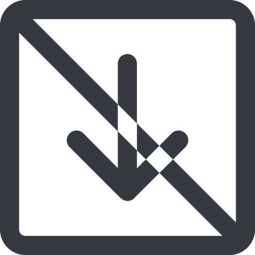 arrow-simple-wide line, down, square, arrow, direction, prohibited, arrow-simple-wide free icon 512x512 512x512px