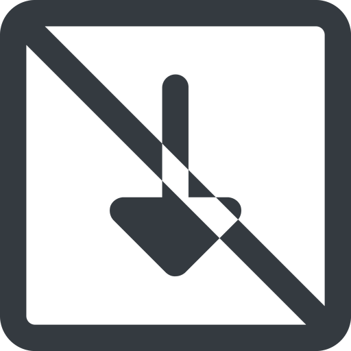arrow-solid line, down, wide, square, arrow, prohibited, arrow-solid free icon 512x512 512x512px