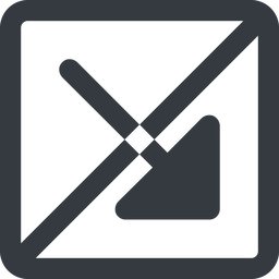 arrow-corner-solid line, right, wide, square, arrow, prohibited, corner, arrow-corner-solid free icon 256x256 256x256px