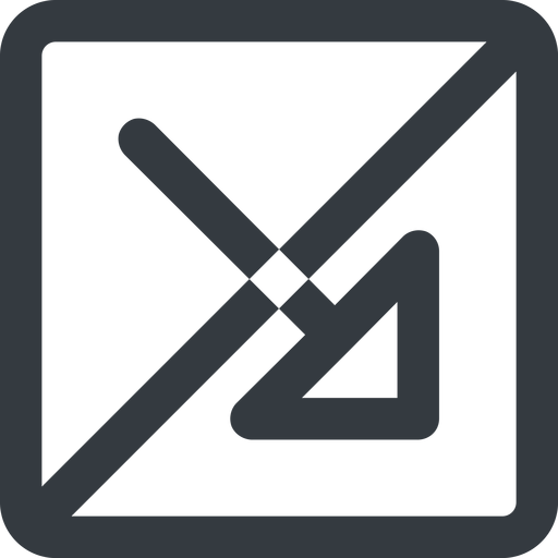 arrow-corner-wide line, right, wide, square, arrow, prohibited, corner, arrow-corner-wide free icon 512x512 512x512px