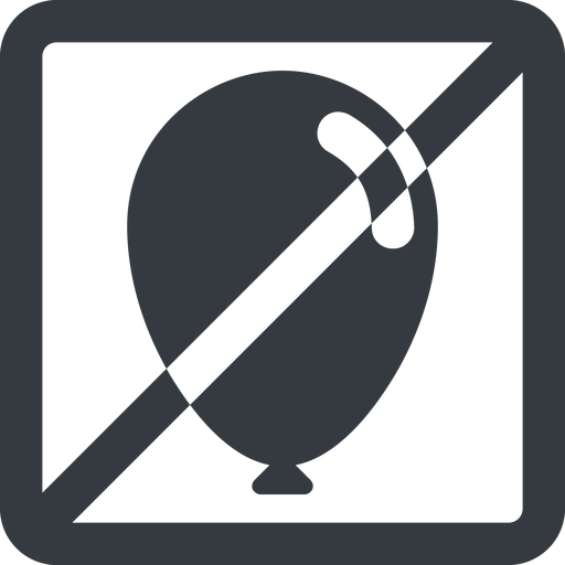 balloon-solid line, wide, solid, square, horizontal, mirror, prohibited, balloon, party, birthday, carnival, helium, balloons, balloon-solid free icon 512x512 512x512px