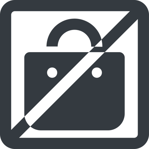 shopping-bag-solid line, wide, square, horizontal, mirror, prohibited, shopping, cart, market, handbag, bag, bags, shopping-bag, shopping-bag-solid free icon 512x512 512x512px
