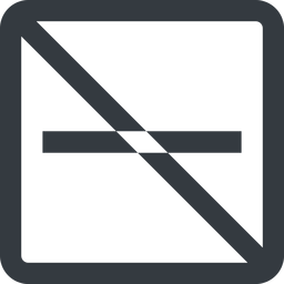 minus-wide line, up, wide, square, minus, remove, sub, substract, prohibited, collapse, minus-wide, -, less free icon 256x256 256x256px