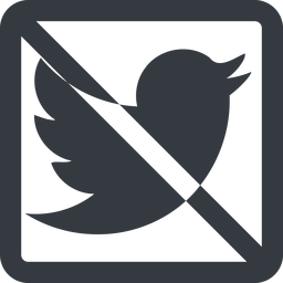 twitter line, up, wide, square, logo, brand, social, prohibited, twitter, bird, twit free icon 256x256 256x256px
