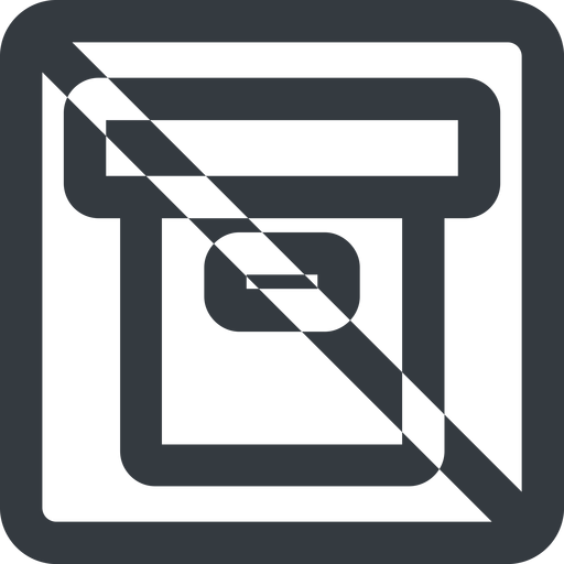 archive-wide line, wide, square, prohibited, archive, back-up, archive-wide free icon 512x512 512x512px