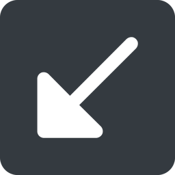 arrow-corner-solid down, wide, square, arrow, corner, arrow-corner-solid free icon 256x256 256x256px