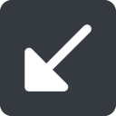 arrow-corner-solid down, wide, square, arrow, corner, arrow-corner-solid free icon 128x128 128x128px