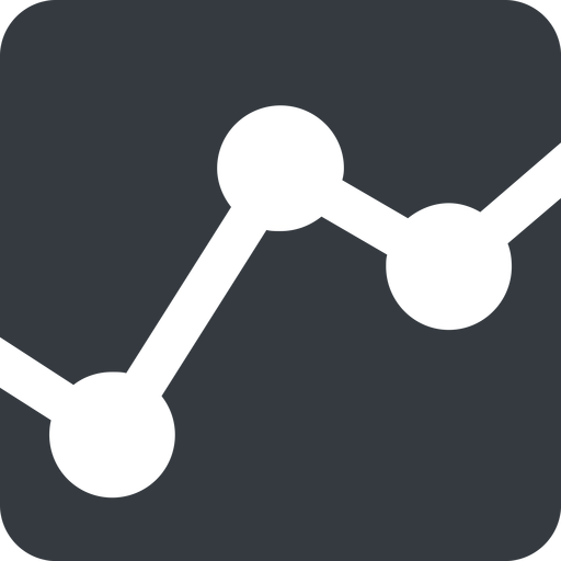 analytics-wide down, wide, solid, square, graph, analytics, chart, analytics-wide free icon 512x512 512x512px
