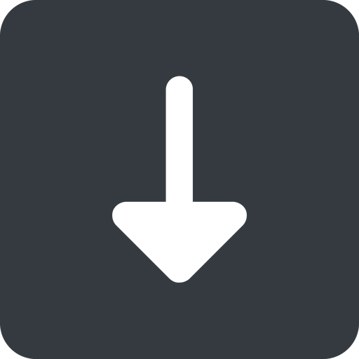 arrow-solid down, wide, solid, square, arrow, arrow-solid free icon 512x512 512x512px