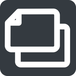 copy-wide left, wide, solid, square, large, copy, copy-wide, files free icon 256x256 256x256px