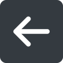 arrow-simple-wide left, solid, square, arrow, direction, arrow-simple-wide free icon 128x128 128x128px