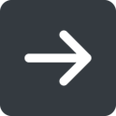 arrow-simple-wide right, solid, square, arrow, direction, arrow-simple-wide free icon 128x128 128x128px