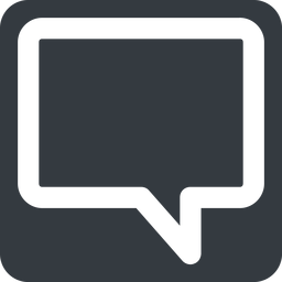 comment-square-wide wide, solid, square, horizontal, mirror, dots, message, chat, comment, speech, dialogue, blablabla, blabla, bubbles, comment-square-wide free icon 256x256 256x256px