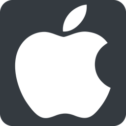 apple wide, solid, square, logo, brand, apple, macintosh, itunes, ipad, iphone, ipod free icon 256x256 256x256px