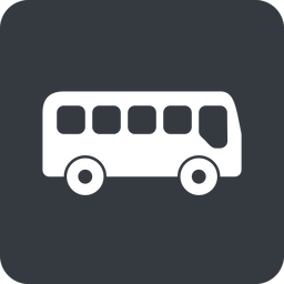 bus-side wide, solid, square, car, vehicle, transport, bus, side, bus-side free icon 256x256 256x256px