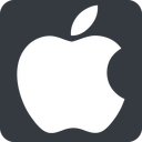 apple wide, solid, square, logo, brand, apple, macintosh, itunes, ipad, iphone, ipod free icon 128x128 128x128px