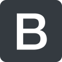 bootstrap-b solid, square, logo, brand, bootstrap, b, letter, bootstrap-b free icon 128x128 128x128px