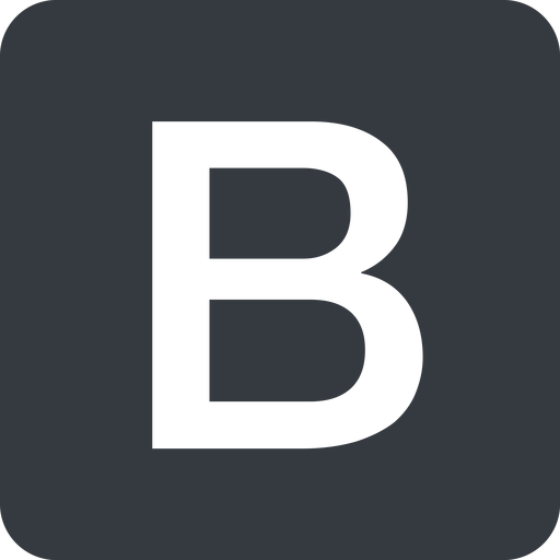 bootstrap-b solid, square, logo, brand, bootstrap, b, letter, bootstrap-b free icon 512x512 512x512px