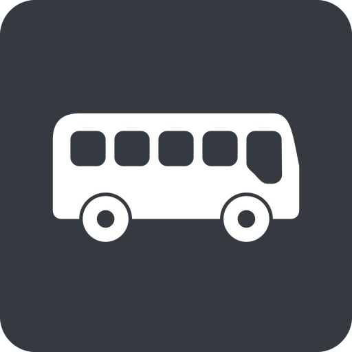 bus-side wide, solid, square, car, vehicle, transport, bus, side, bus-side free icon 512x512 512x512px