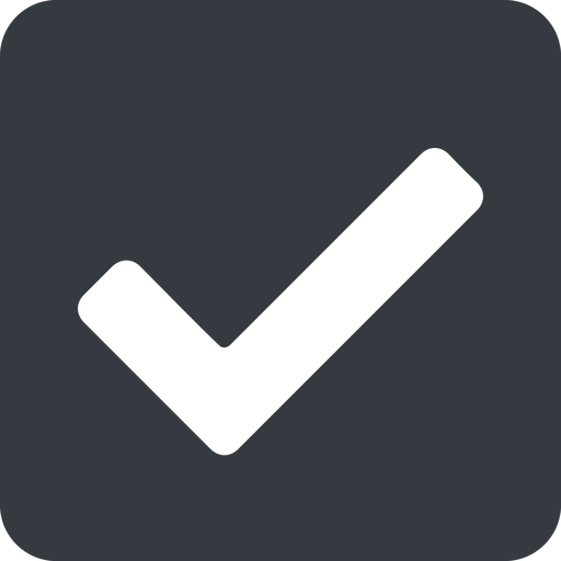 check wide, solid, square, check, ok, valid, checked, done, confirm, confirmed, success, yes free icon 512x512 512x512px
