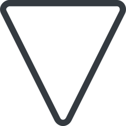 triangle triangle, line, down, normal free icon 256x256 256x256px